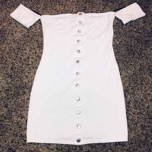 "Forever 21 ""Blanco"" Fitted Mini Dress"